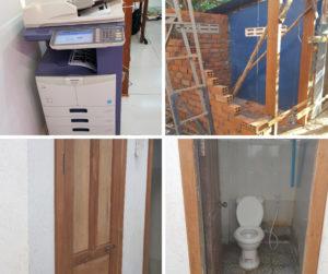 Neues Kopiergerät und Toiletten